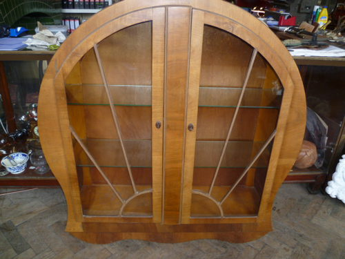 ANTIQUE ART DECO DISPLAY CABINET - Antiques Atlas