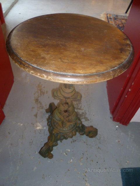 Antique Cast Iron Pub Table ...