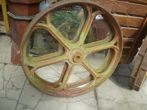 Iron Tractor Wheels : Antiques atlas antique cast iron tractor wheel mirror