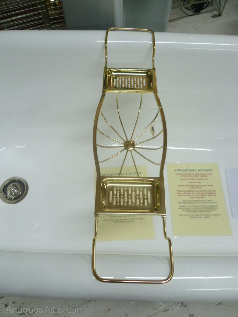 Polished Brass Bathroom Faucet: ANTIQUE POLISHED BRASS BATH RACK /TIDY