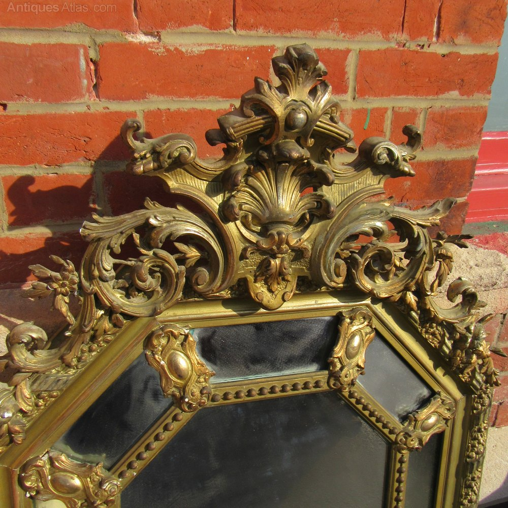 Antiques atlas antique french cushion mirror for Antique french mirror