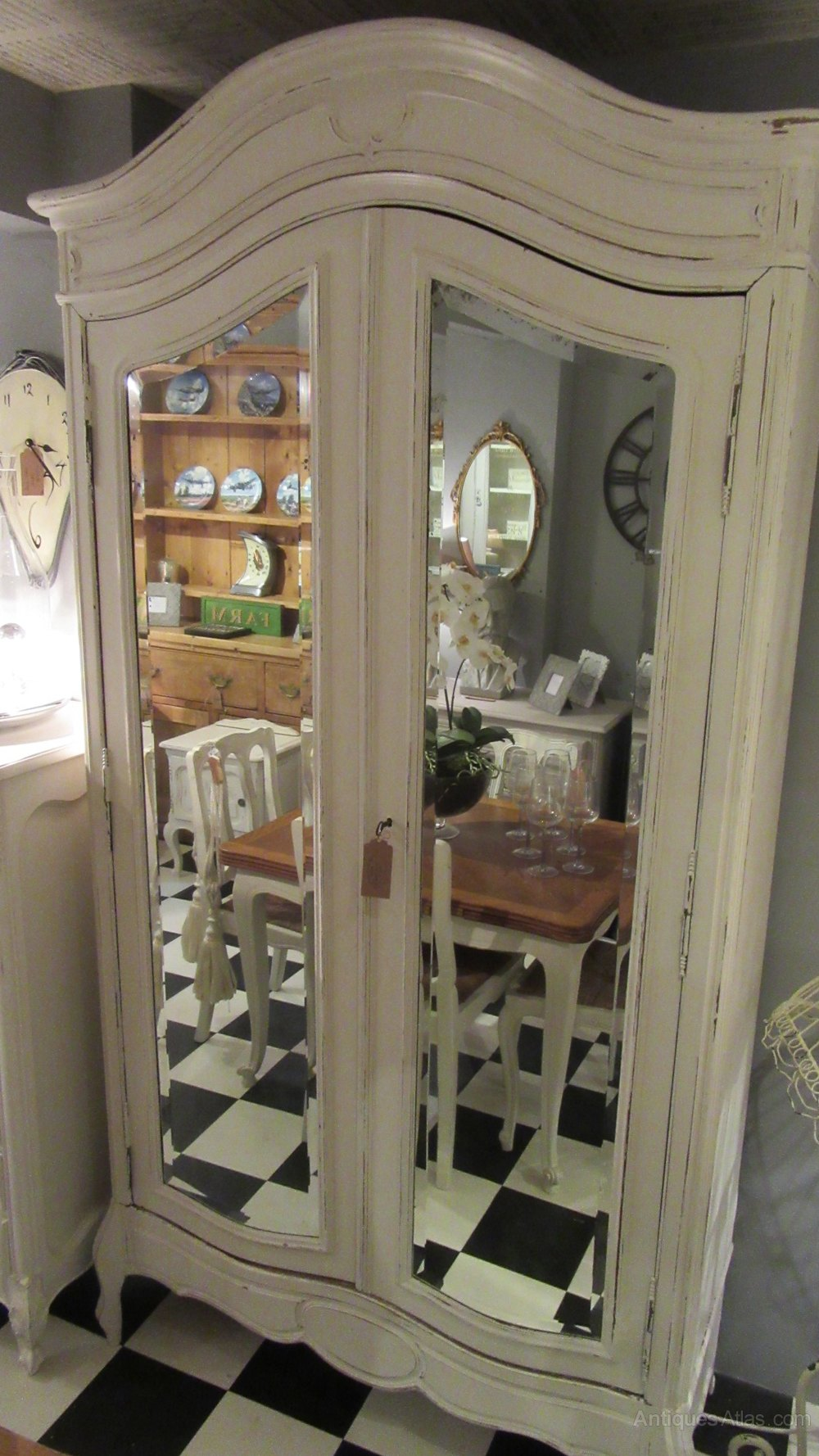 Antique French Painted Breakdown Armoire Antiques Atlas