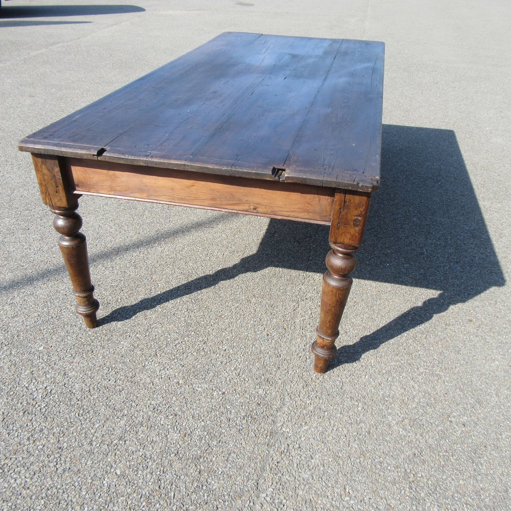 Antique French Pine Farmhouse Dining Table Antiques Atlas