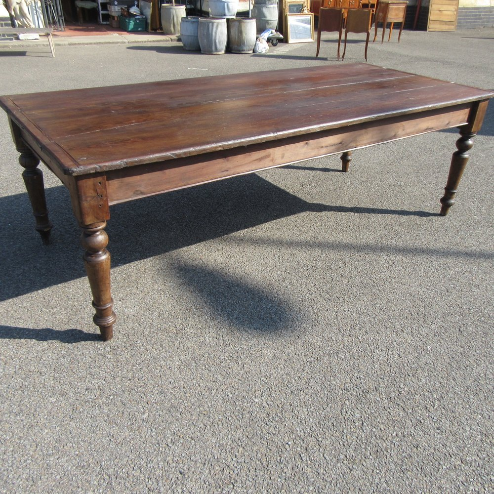 Antique french pine farmhouse dining table antiques atlas - Antique french dining tables ...