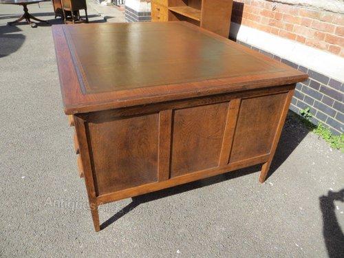 Antique Oak Partners Desk Antique Partners Desks ... - Antique Oak Partners Desk - Antiques Atlas