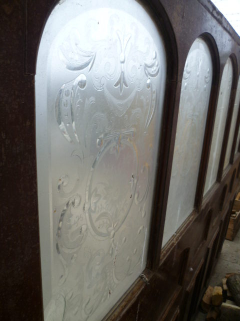 Antiques Atlas Decorative Victorian Cut Glass Pub Partition