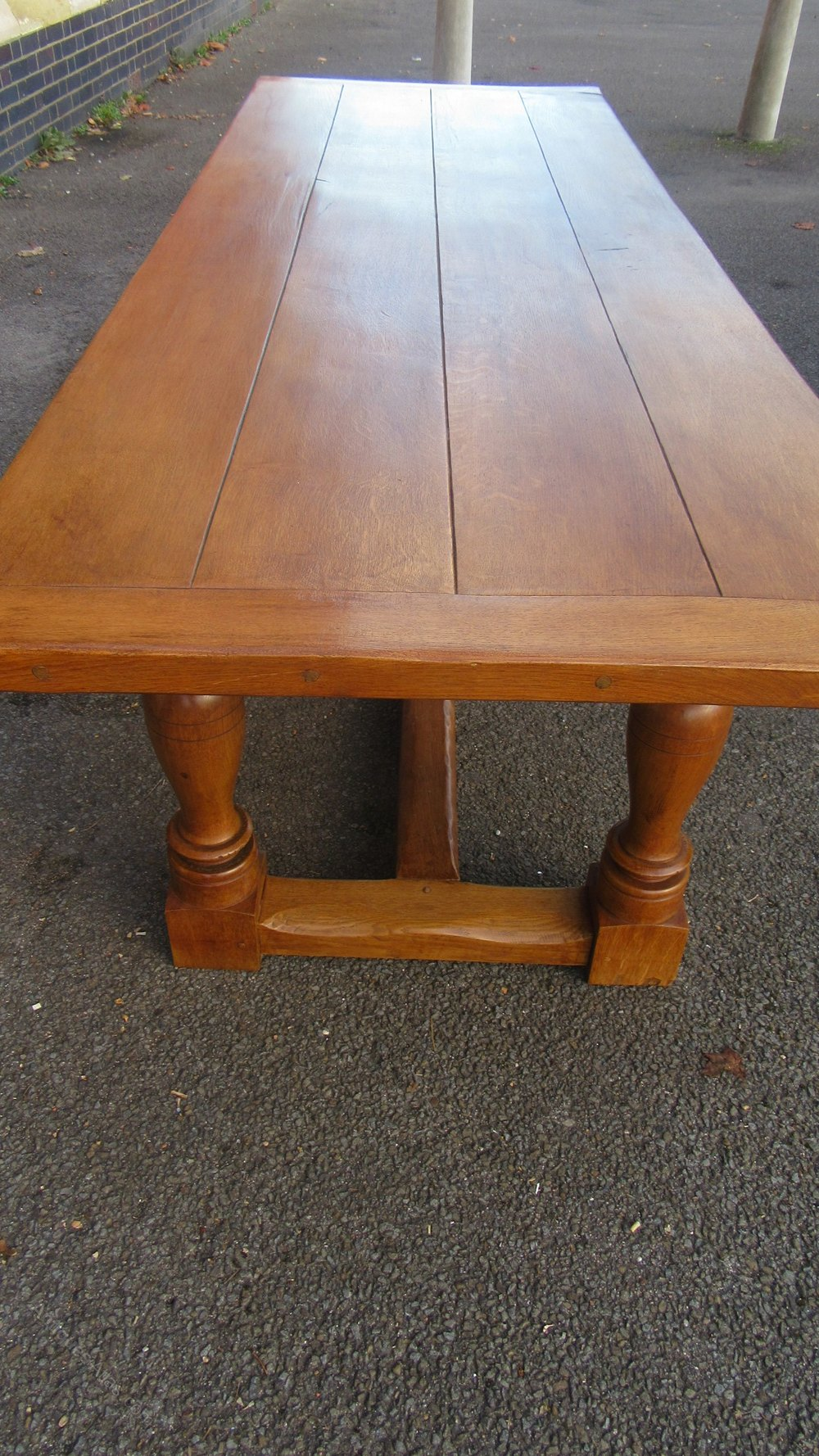 Antiques Atlas Large Oak Refectory Dining Table