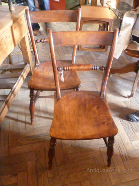 Pair of antiques Georgian elm country chairs ... - Pair Of Antiques Georgian Elm Country Chairs - Antiques Atlas