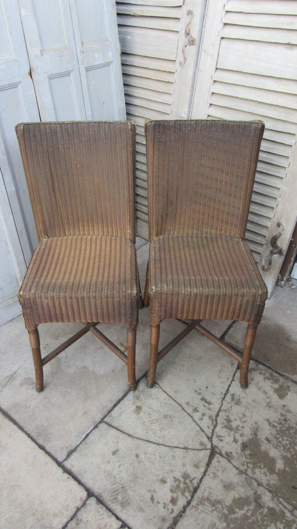 pair of vintage lloyd loom dining chairs antiques atlas. Black Bedroom Furniture Sets. Home Design Ideas