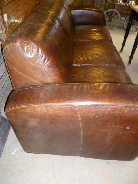 Antiques Atlas Retro Art Deco Style Leather Sofa