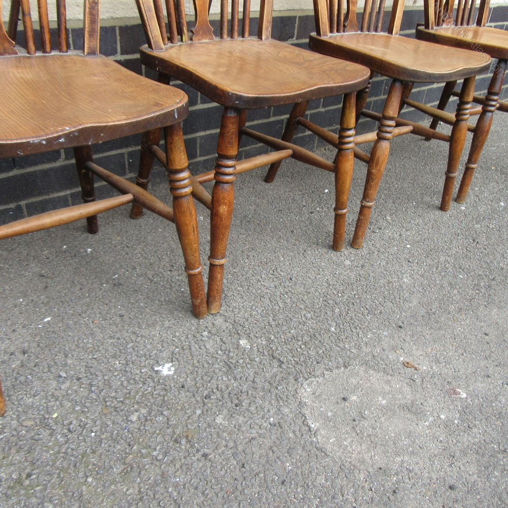 Set Of Four Antique Wheel Back Dining Chairs Antiques Atlas