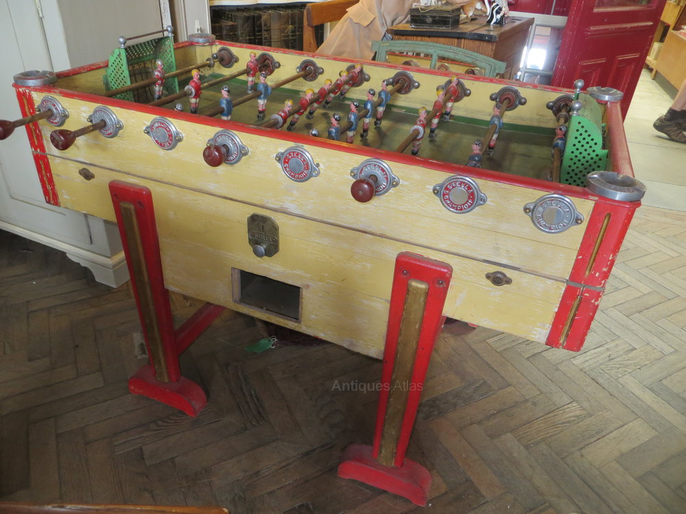 antiques atlas vintage 1930s french stella artois football table. Black Bedroom Furniture Sets. Home Design Ideas
