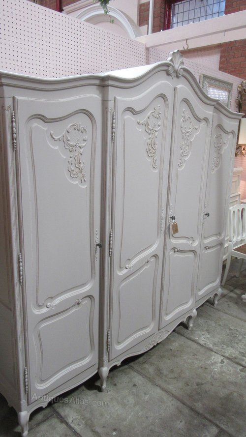 Antiques Atlas Vintage French Painted Breakdown Armoire
