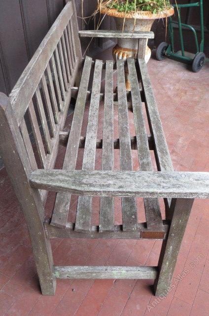 Antiques Atlas Vintage Teak Lister Garden Bench Seat