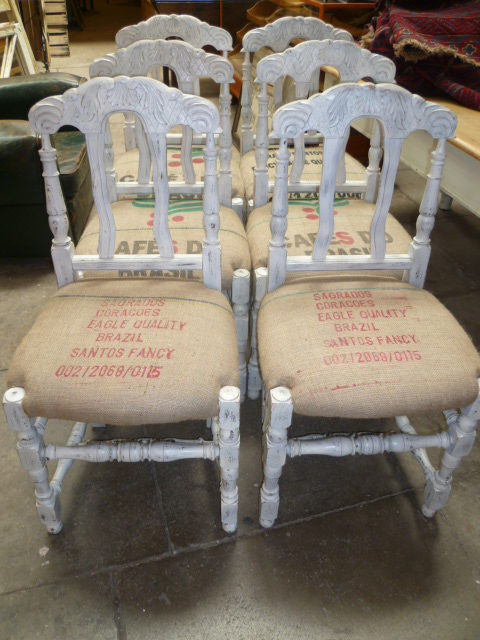 Set Of Six Painted Antique Oak Dining Chairs ... - Set Of Six Painted - Painted Antique Chairs Antique Furniture