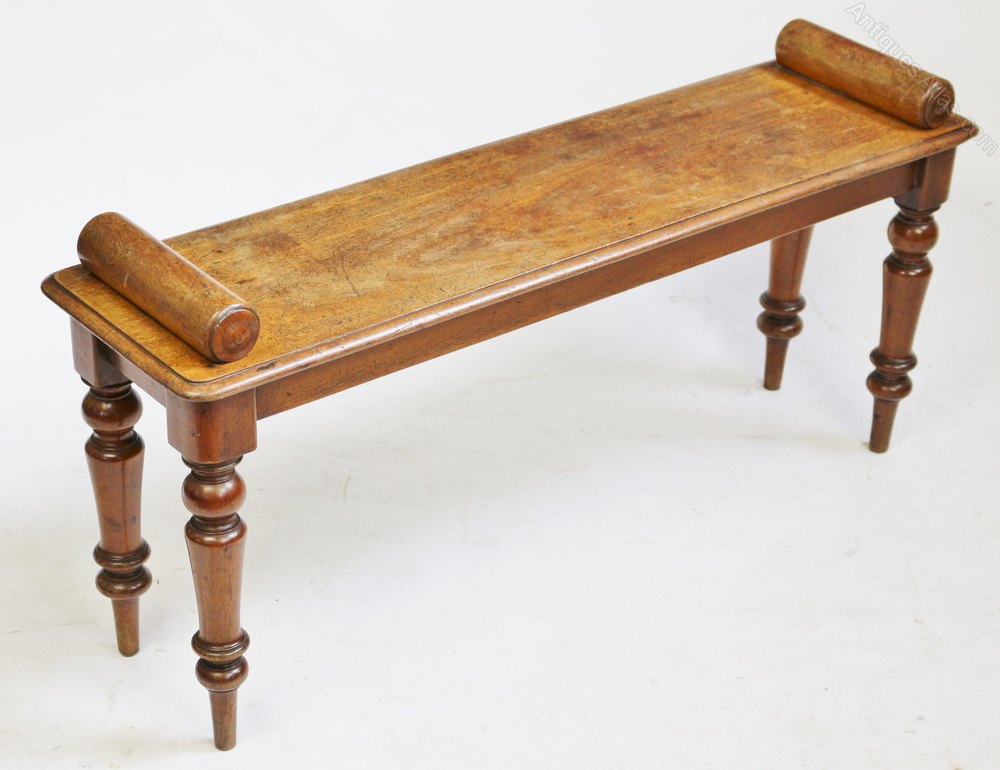 Victorian Mahogany 39 Roll End 39 Hall Bench Antiques Atlas