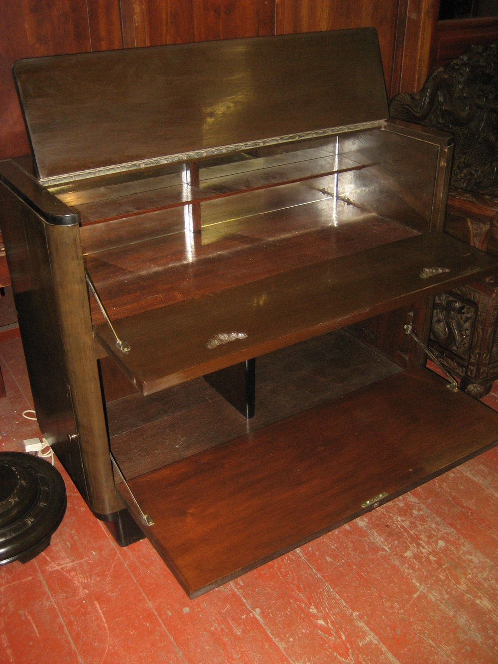 Antiques atlas carved drinks cabinet for Carved kitchen cabinets