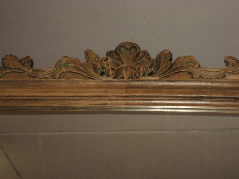 Antiques Atlas Carved Wooden Overmantle Mirror