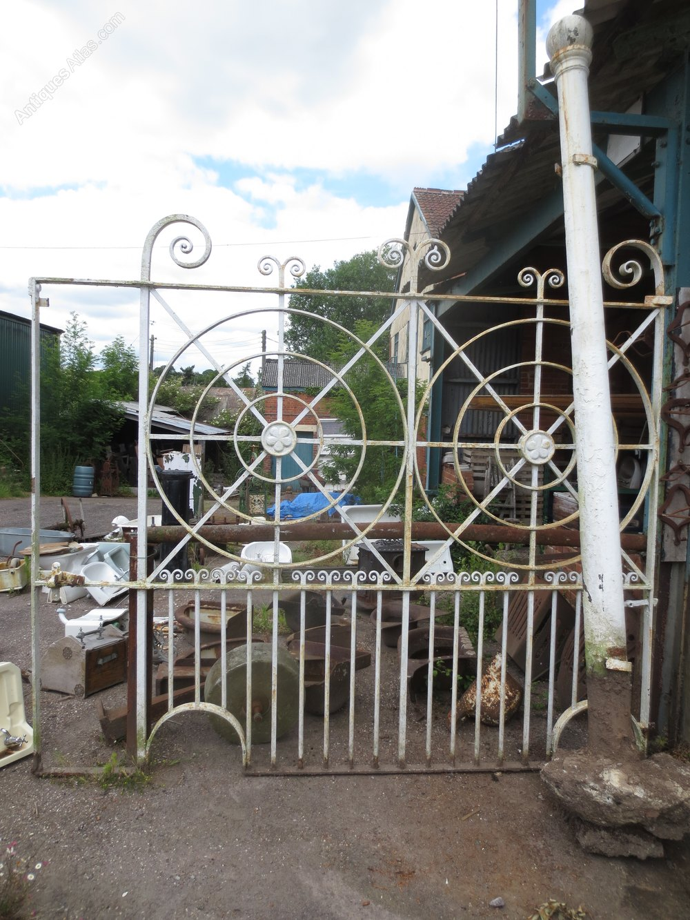 Antiques Atlas Cast Iron Gate With Post