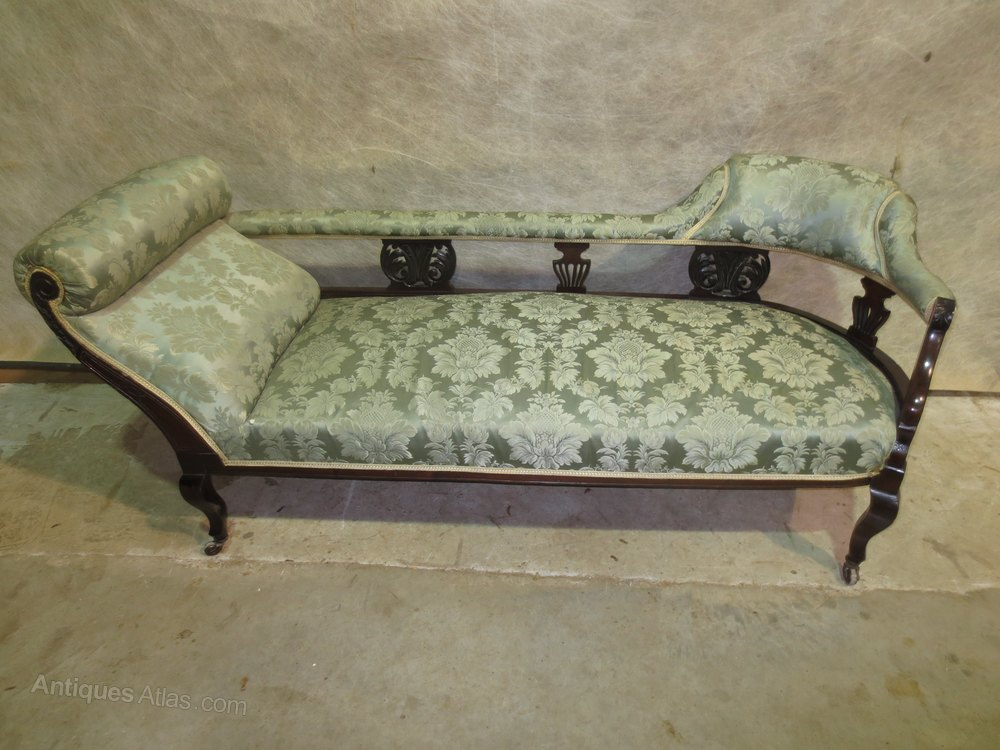Chaise longue and two chairs antiques atlas for Antique chaise longues