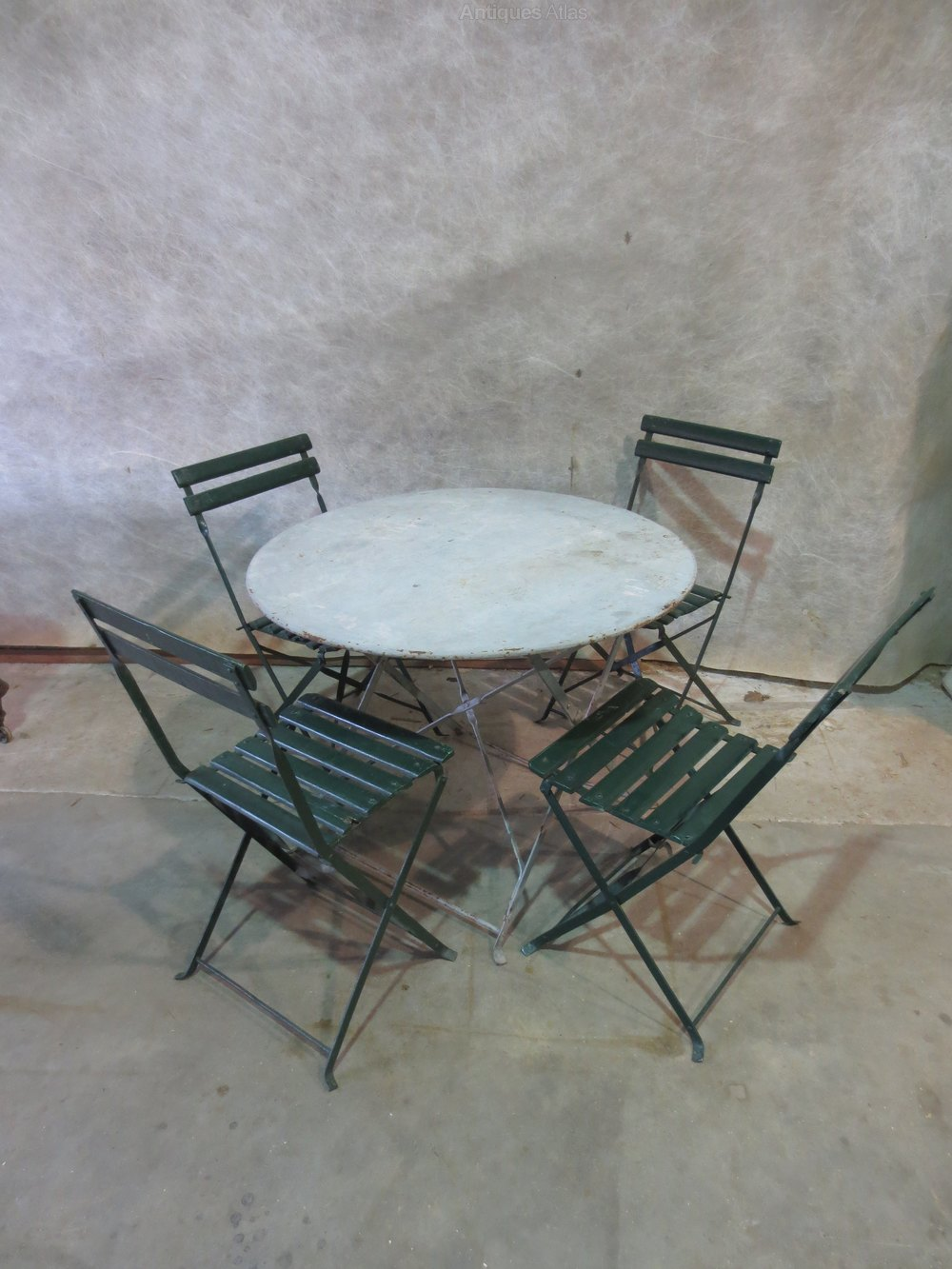 Antiques atlas french garden table and chairs French metal garden furniture
