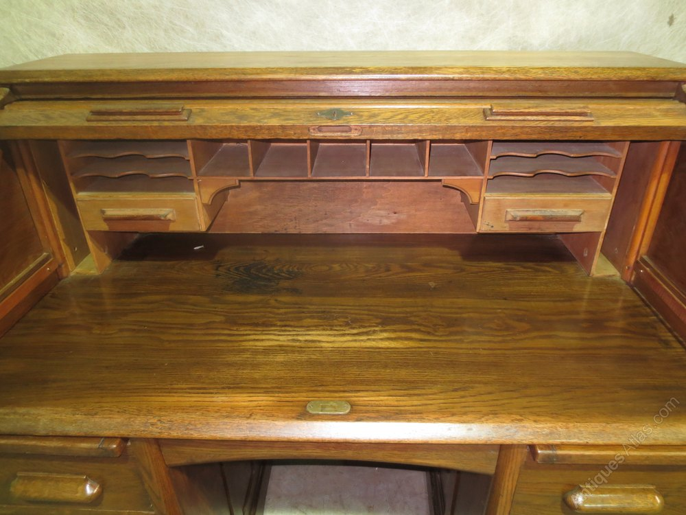 Oak Roll Top Desk Antiques Atlas