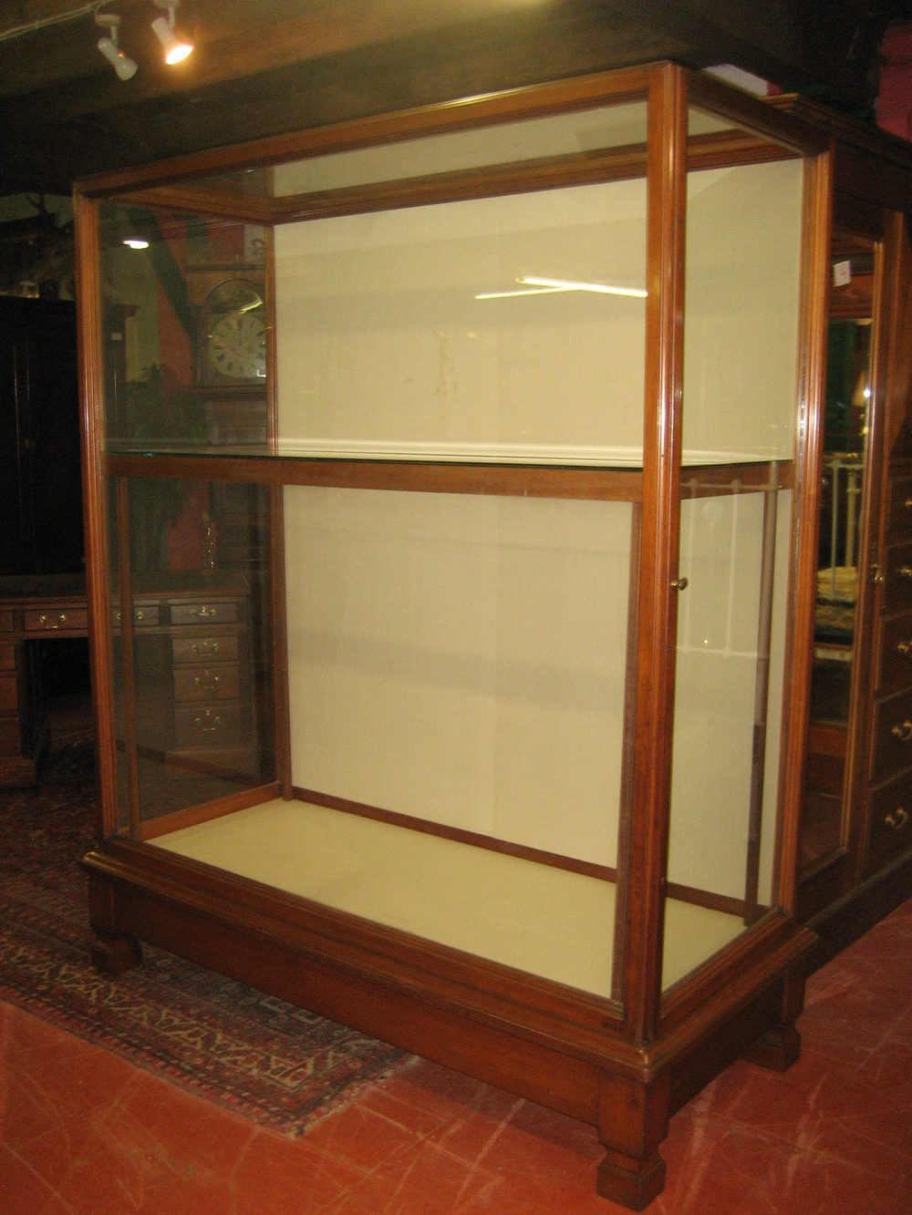 Waring & Gillow Museum Mahogany Display Cabinet - Antiques Atlas