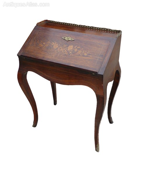 19th century rosewood french ladies bureau antiques atlas for Bureau in french