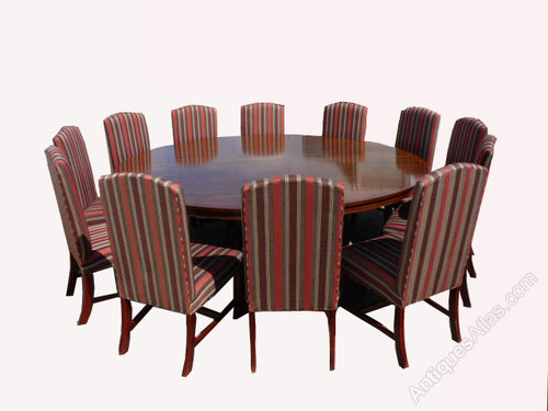 Antiques atlas 20th century 12 seater round table with for 12 seat round dining table