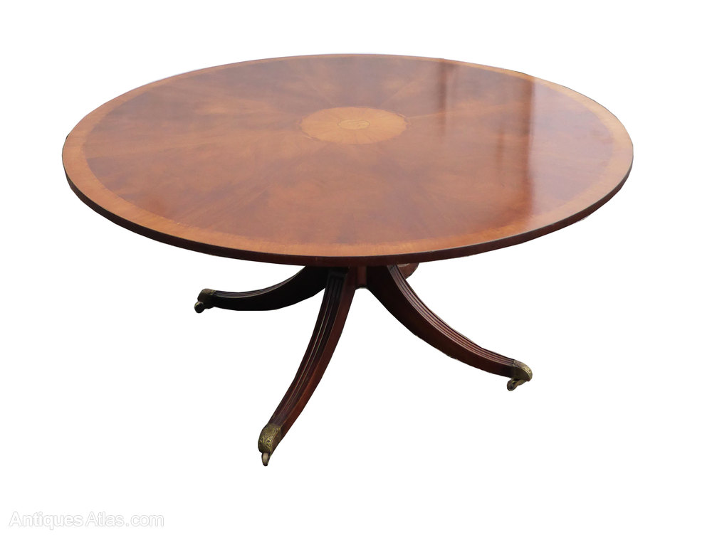 Antiques atlas 5ft round 8 seater mahogany inlaid dining table - Seater dining tables ...