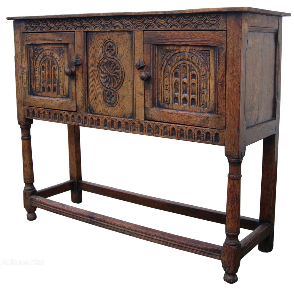 antique rustic oak sideboard antiques atlas. Black Bedroom Furniture Sets. Home Design Ideas