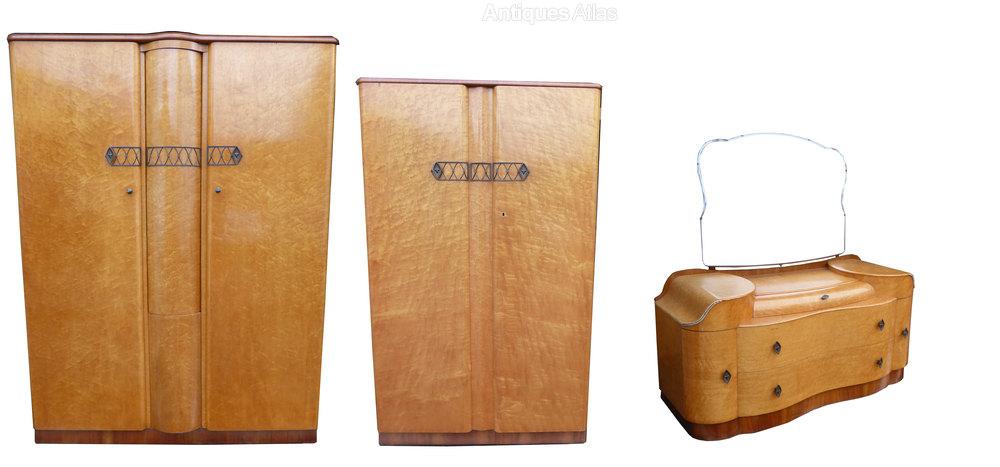 Birdseye Maple Art Deco Bedroom Suite Antiques Atlas