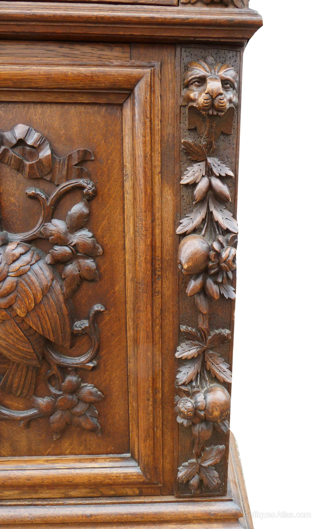Carved oak flemmish mirror back sideboard antiques atlas