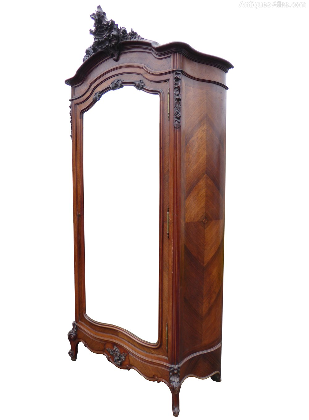 French Louise XV Style Walnut Rococo Armoire  Antiques Atlas -> Armoire Style Baroque
