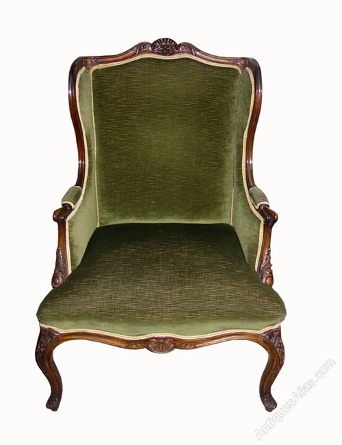 Large wing back arm chair antiques atlas
