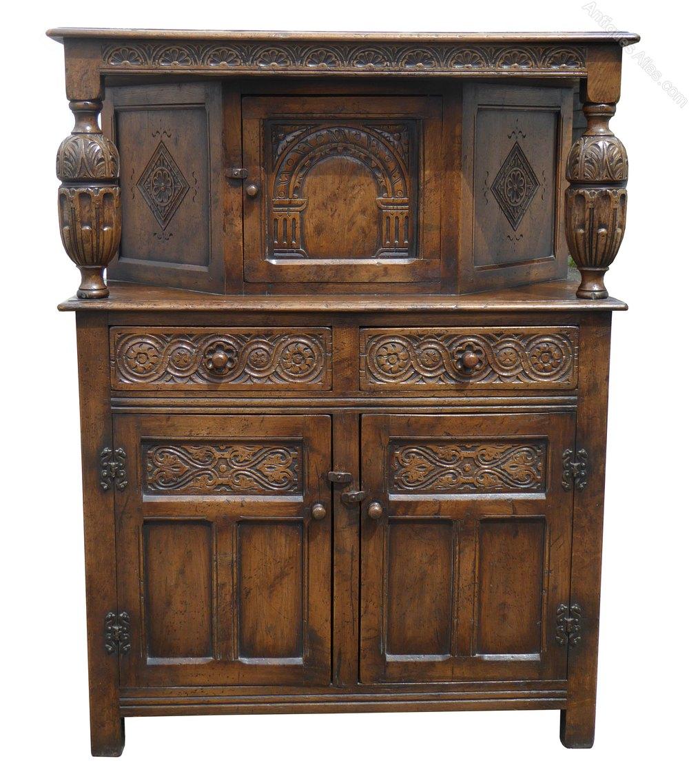 Antiques Atlas Solid Oak Court Cupboard By Titchmarsh