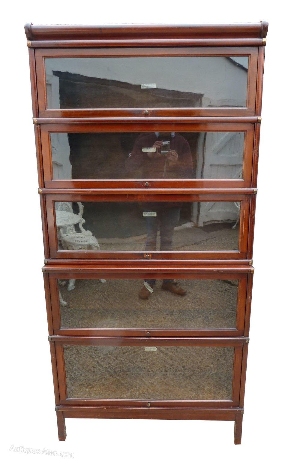 Unusual Mahogany 5 Stack Globe Wernicke Bookcase