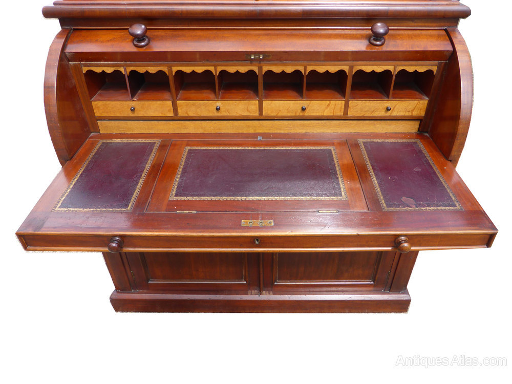 victorian cylinder top bureau bookcase antiques atlas. Black Bedroom Furniture Sets. Home Design Ideas