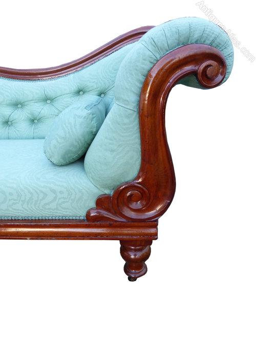 Victorian mahogany chaise longue antiques atlas for Antique chaise longues