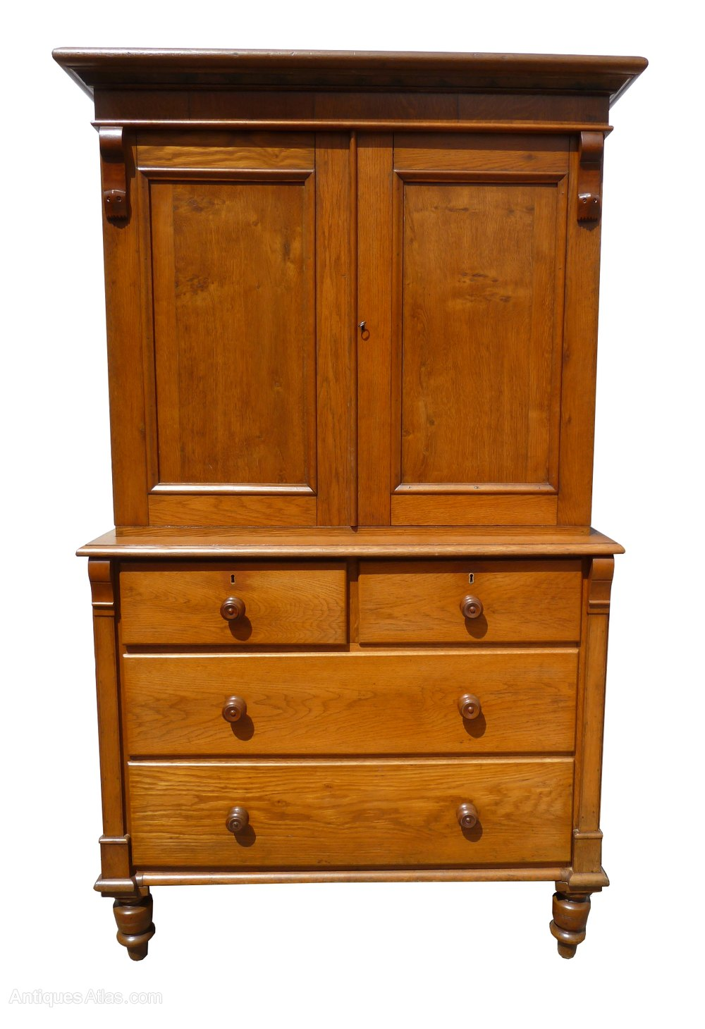 Victorian oak linen press cupboard antiques atlas for Linen press