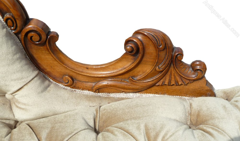 Victorian walnut chaise longue antiques atlas for Antique chaise longue for sale