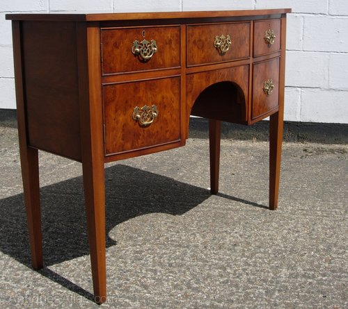 Yew Wood Bow Front Bevan Funnell Sideboard Antiques Atlas