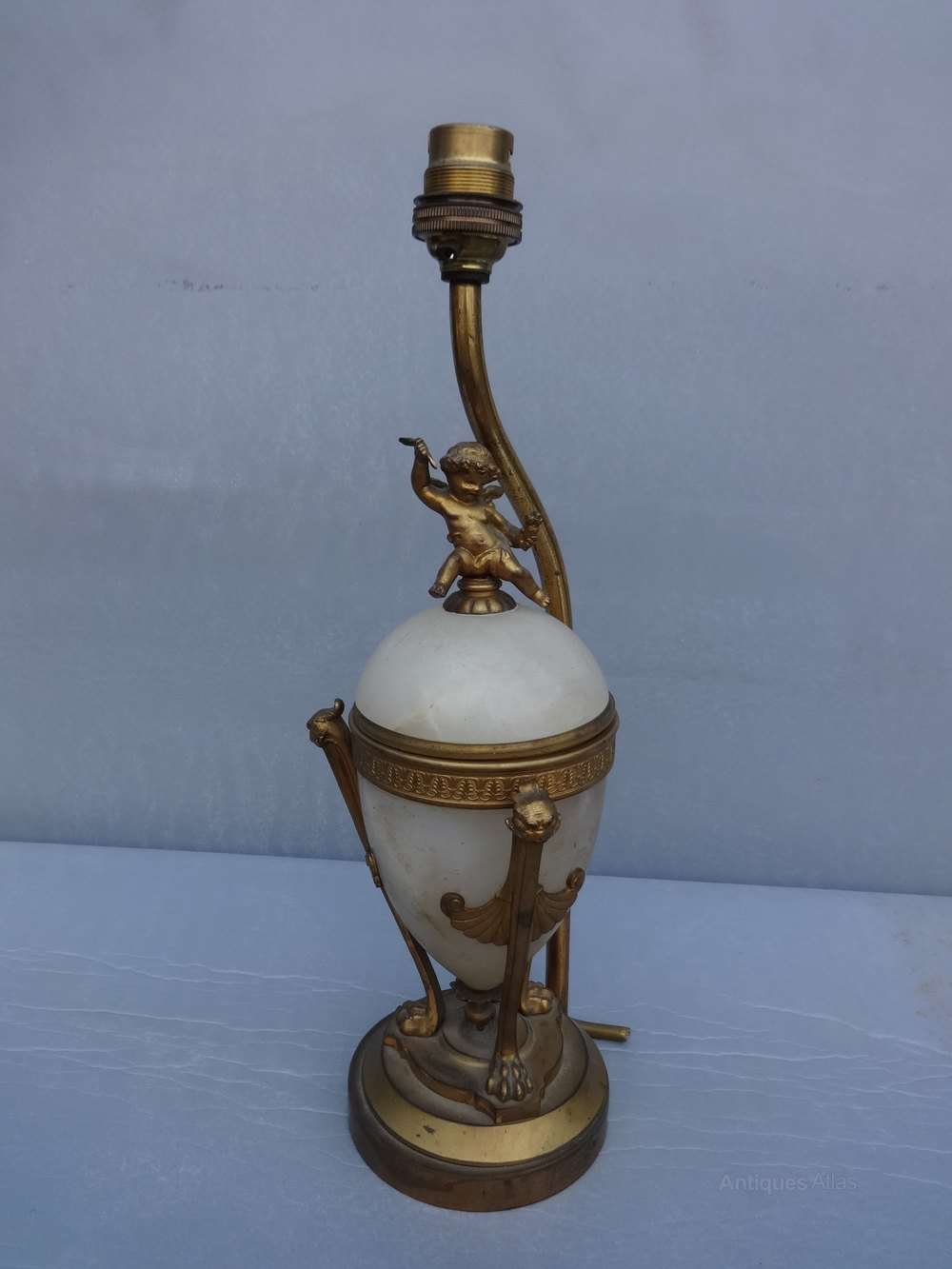 Antiques Atlas Alabaster And Gilt Metal Table Lamp