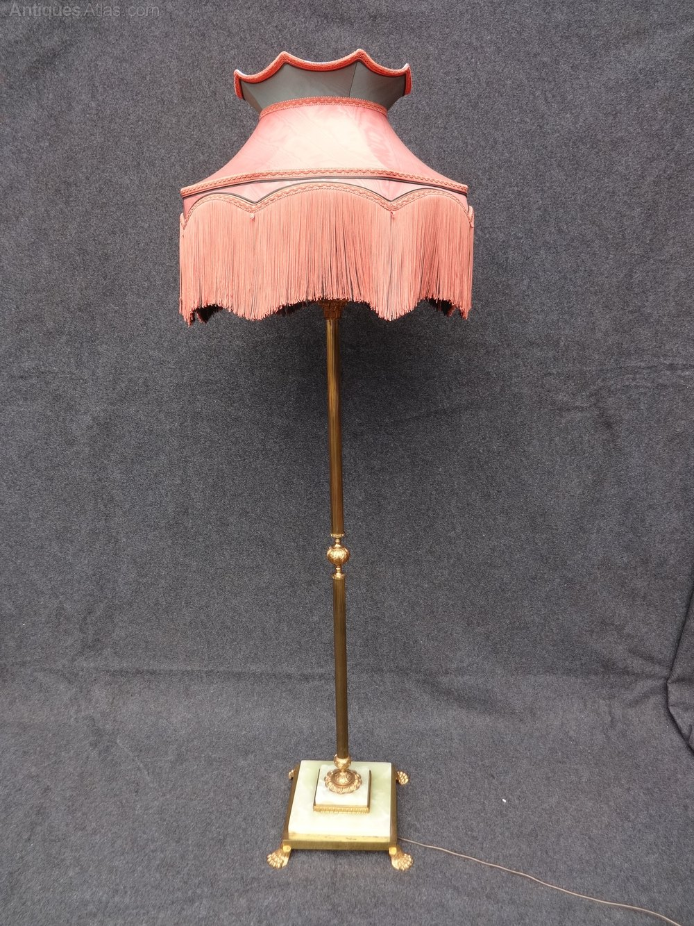 Antiques Atlas Brass And Onyx Standard Lamp With