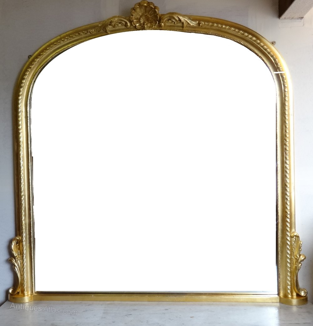Antiques atlas english gilt overmantle mirror for Overmantle mirror