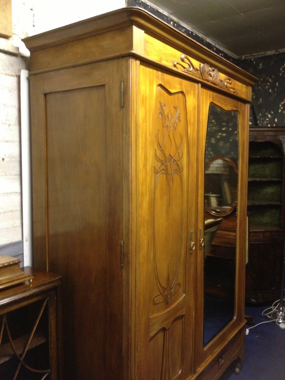 French Art Nouveau Wardrobe