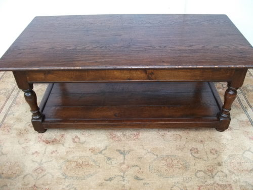 Oak plank coffee table antiques atlas for Vintage coffee table