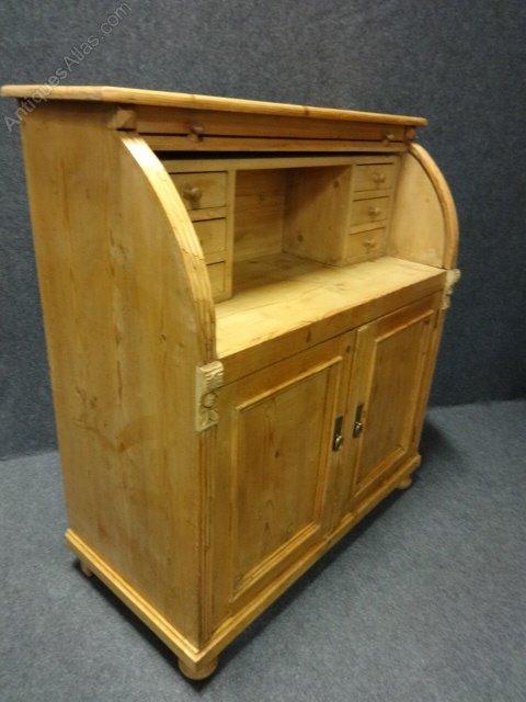 pine roll top bureau desk antiques atlas. Black Bedroom Furniture Sets. Home Design Ideas