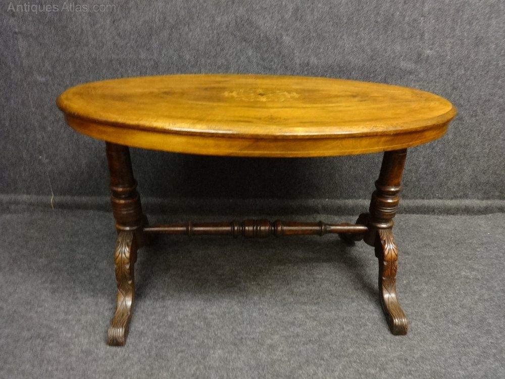 Walnut Inlaid Coffee Table Antiques Atlas