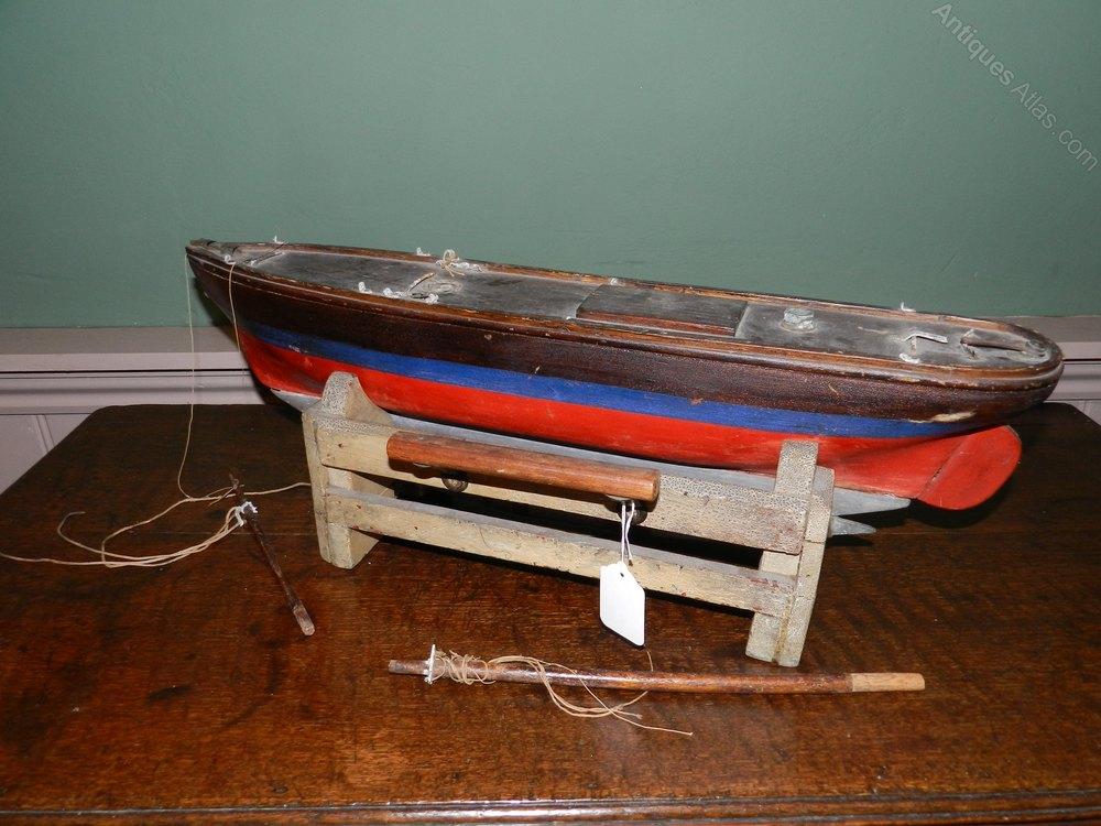 Antiques atlas original painted pond yacht for Pond dealers